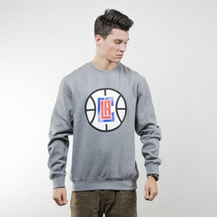 Mitchell & Ness sweatshirt crewneck Los Angeles Clippers grey heather TEAM LOGO