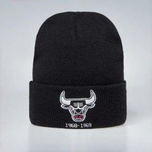 Mitchell & Ness winter baenie Chicago Bulls black HWC Team Logo Knit