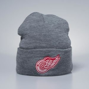 Mitchell & Ness winter beanie Detroit Red Wings heather grey Team Logo Cuff Knit
