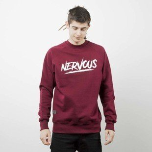 Nervous sweatshirt Scratch maroon