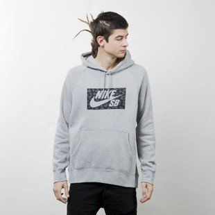 Nike SB Icon Hoodie Jagmo grey heather 837932-063