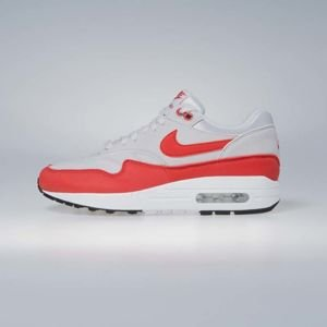 Nike sneakers Air Max 1  vast grey / habanero red 319986-035