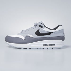 Nike sneakers Air Max 1 white / black - wolf grey - gunsmoke AH8145-101