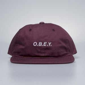 Obey Barrage 6 Panel Snapback raspberry