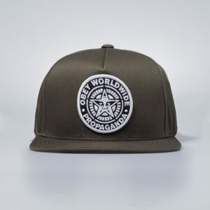 Obey Classic Patch Snapback Cap loden army