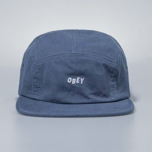 Obey Jumble Bar 5 Panel Hat vintage indigo