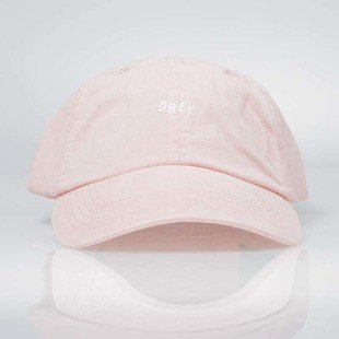 Obey Jumble Bar Hat II 6 Panel rose