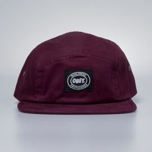 Obey Onset 5 Panel Cap raspberry