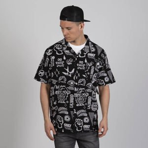Obey Shirt Flash Woven SS black multi
