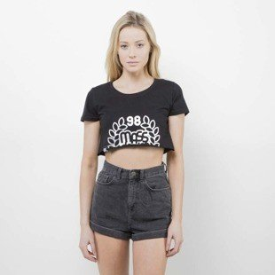 Saint Mass T-Shirt Crop Top Base black