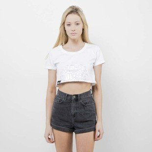 Saint Mass T-Shirt Crop Top Base white
