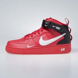 Sneakers Nike Air Force 1 1 Mid '07 LV8 university red / white-black (804609-605)