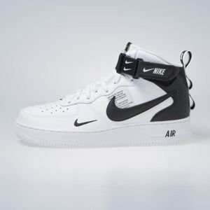 Sneakers Nike Air Force 1 1 Mid '07 LV8 white / black-tour yellow (804609-103)