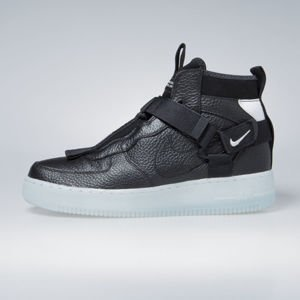 Sneakers Nike Air Force 1 Utility Mid black / half blue-white (AQ9758-001)