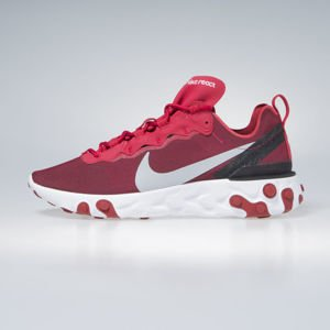 Sneakers Nike React Element 55 gym red / wolf grey-white-black (BQ6166-601)
