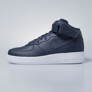 Sneakers buty Nike Air Force 1 Mid '07obsidian / obsidian - white 315123-415
