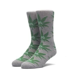 Socks HUF Green Buddy Crew Sock grey