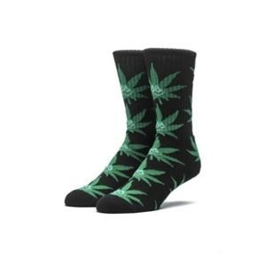Socks HUF Green Buddy Plantlife Crew Sock black