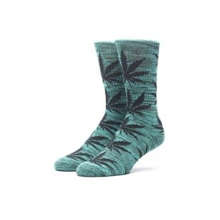 Socks HUF Melange Plantlife Crew Sock green / black