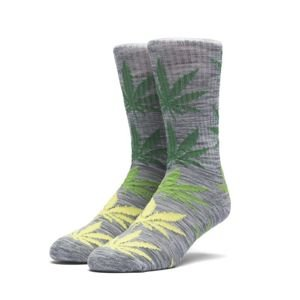 Socks HUF Melange Plantlife Crew Sock grey