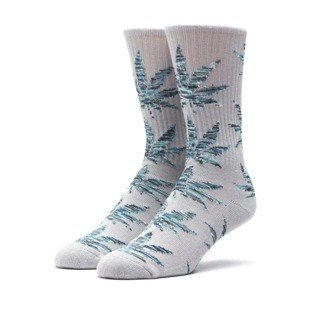 Socks HUF Melange Plantlife Crew Sock grey heather / blue