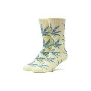 Socks HUF Melange Plantlife Crew Sock yellow / teal