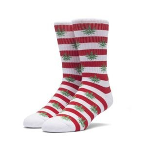 Socks HUF Plantlife Candy Cane Sock - red