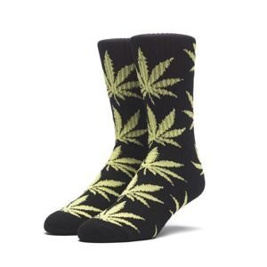 Socks HUF Plantlife Crew Sock - black / neon green
