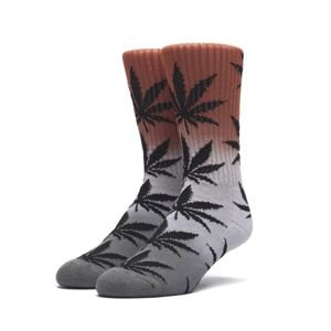 Socks HUF Tri-Fade Plantlife Crew Sock - infrared / grey / black