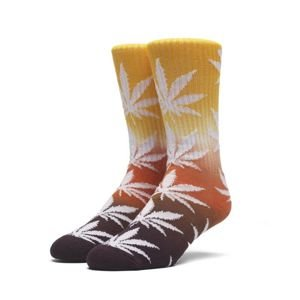 Socks HUF Tri-Fade Plantlife Crew Sock - orange / infrared / purple