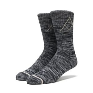 Socks HUF Triple Tri Melange Crew Socks black