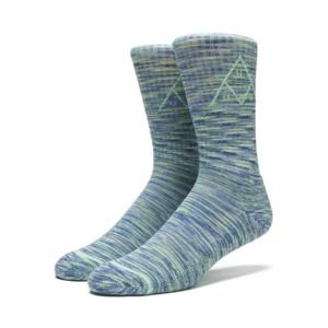 Socks HUF Triple Tri Melange Crew Socks blue