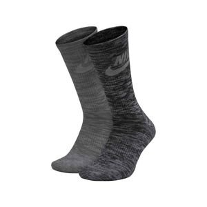 Socks Nike NSW Advance Crew 2 Pairs grey / black SX5403-900
