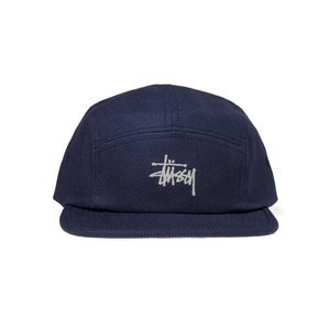 Stussy 5Panel Basic Logo Camp Cap blue