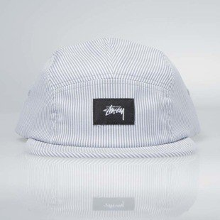Stussy 5Panel Seersucker Camp Cap grey