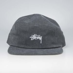 Stussy 5panel Washed Oxford Canvas Camp Cap black
