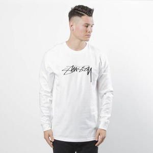 Stussy Longsleeve Smooth Stock LS Tee white