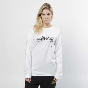 Stussy Longsleeve Smooth Stock LS Tee white WMNS