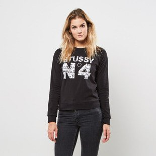 Stussy No.4 Scribble Tomboy Crew black WMNS