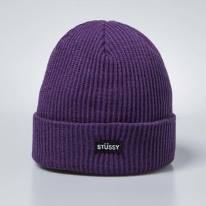 Stussy Small Patch Watch Cap Beanie purple