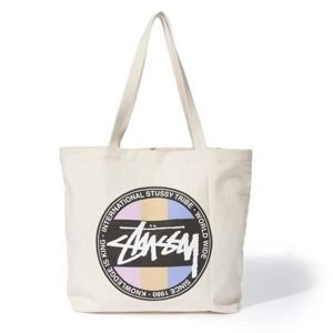 Stussy Stock Dot Tote natural