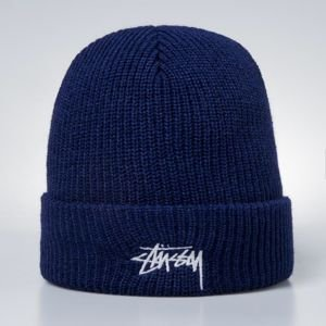 Stussy Stock HO17 Cuff Beanie light navy