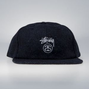 Stussy Stock Lock Wool Strapback Cap blue