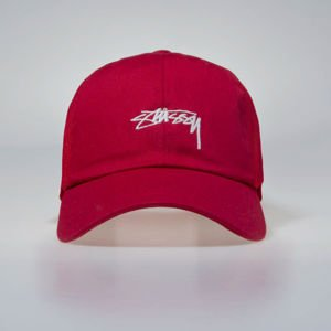Stussy Stock Low Pro Trucker Cap red