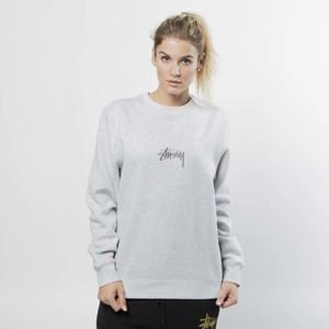 Stussy Sweatshirt Stock App. Crew grey heather WMNS