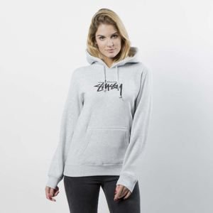Stussy Sweatshirt Stock Hood WMNS grey heather
