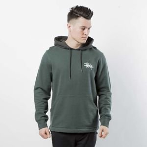 Stussy Sweatshirt Two Tone Hood green