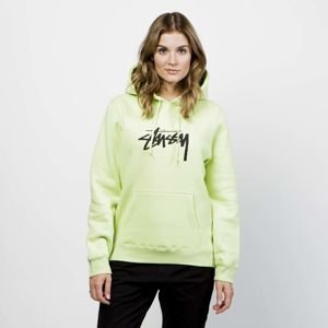 Stussy WMNS Sweatshirt Stock Hood pale green