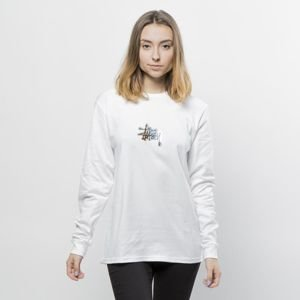 Stussy WMNS longsleeve Prism Logo LS Tee white FW17