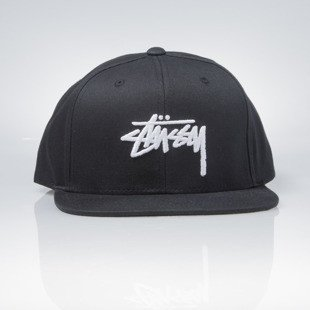 Stussy snapback Stock Cap SP 17 black